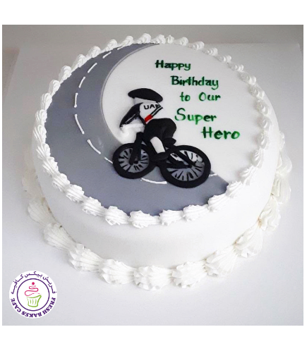 Cycling Themed Cake - 2D Cake Topper 02