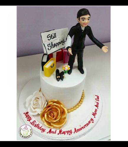 Man Themed Cake - 3D Cake Topper - Shopping