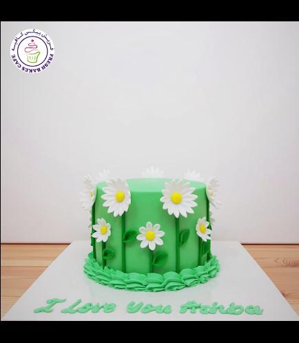 Cake - Daisies - 1 Tier 03