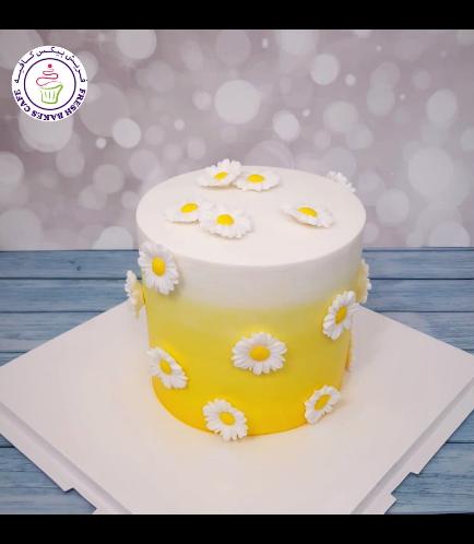 Cake - Daisies - 1 Tier 04