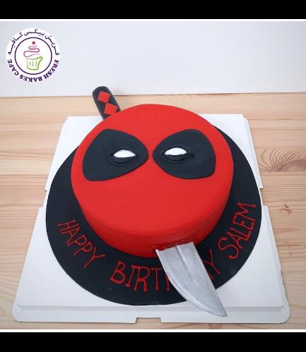 Deadpool Themed Cake