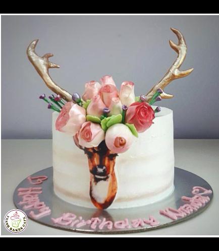 Deer Themed Cake