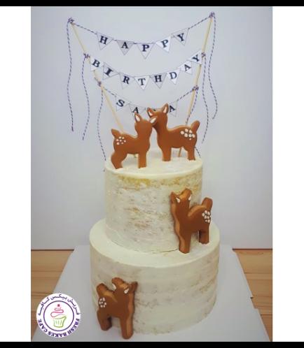Deer Themed Cake - Deer Cookies