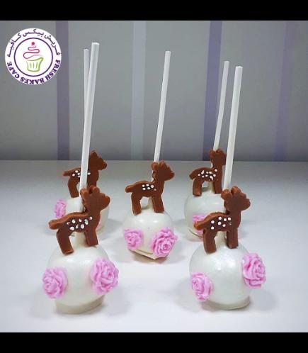 Deer Themed Cake Pops - Bambi
