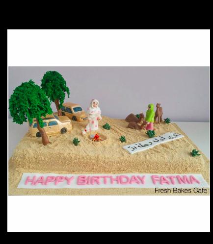Desert Themed Cake 01