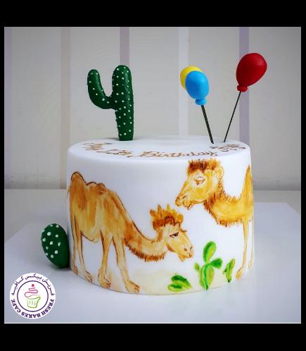 Camel Themed Cake 04