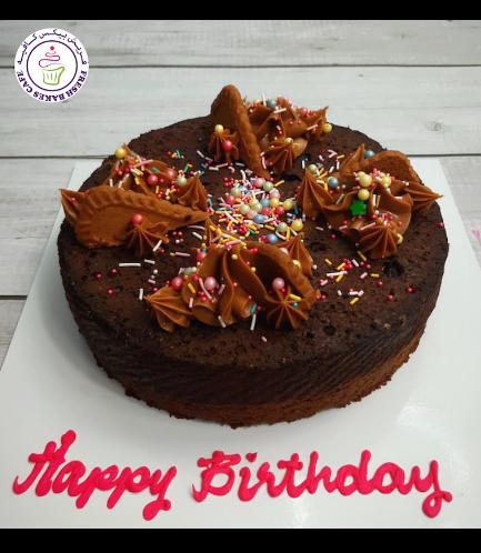 Lotus Biscoff Chocolate Brownie Cake