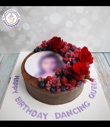 Cake with Berries - Chocolate Cake - Photo