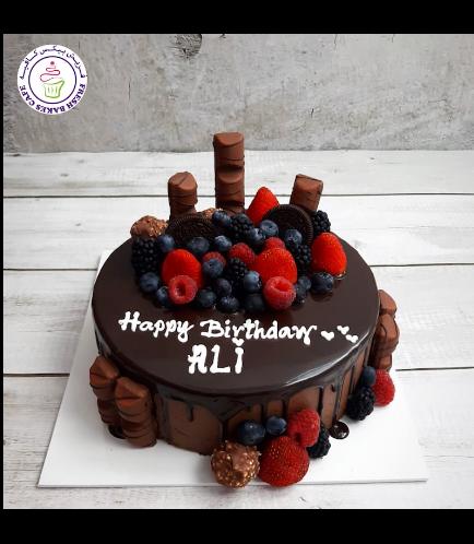 Kinder Chocolate Cake with Berries