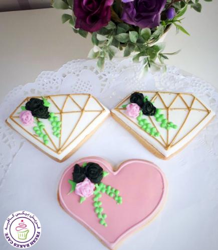 Diamond & Heart Themed Cookies