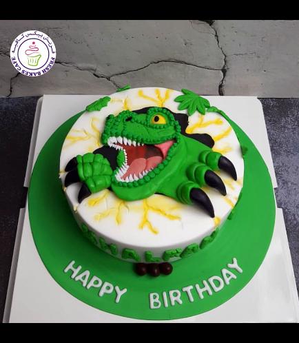Dinosaur Themed Cake - 2D Cake Topper