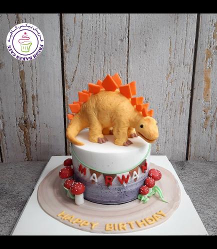 Dinosaur Themed Cake - 3D Cake Topper - 1 Tier 07