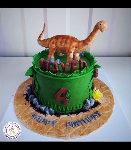 Dinosaur Themed Cake - Brachiosaurus - 3D Cake Topper 01a