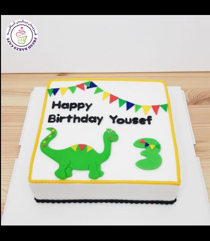 Dinosaur Themed Cake - Cute Dinosaur - 2D Cake Topper