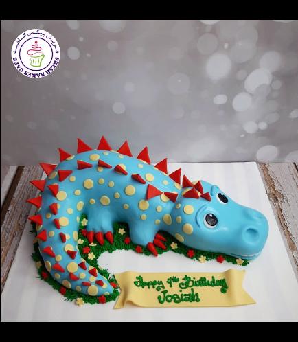 Dinosaur Themed Cake - Cute Dinosaur - 3D Cake