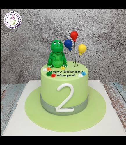 Dinosaur Themed Cake - Cute Dinosaur - 3D Cake Topper 02