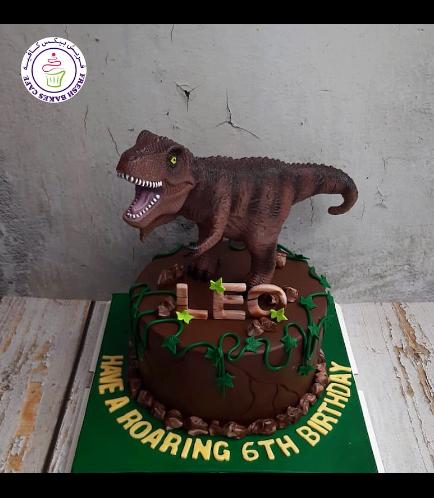 Dinosaur Themed Cake - Dinosaur Toy - 1 Tier