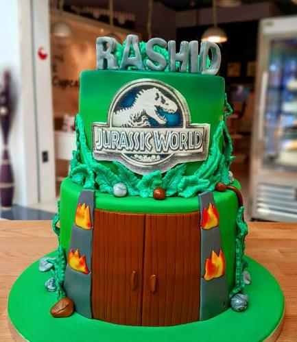 Dinosaur Themed Cake - Jurassic Park - 2 Tier