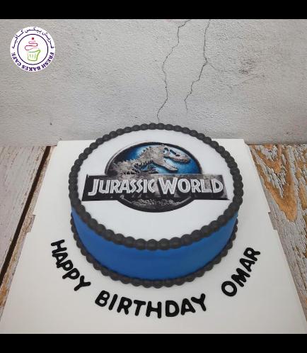 Dinosaur Themed Cake - Jurassic Park - 1 Tier