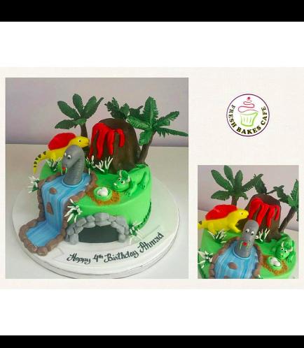 Dinosaur Themed Cake - 3D Cake Toppers 01