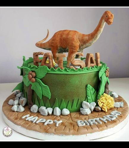 Dinosaur Themed Cake - 3D Cake Topper - 1 Tier 02