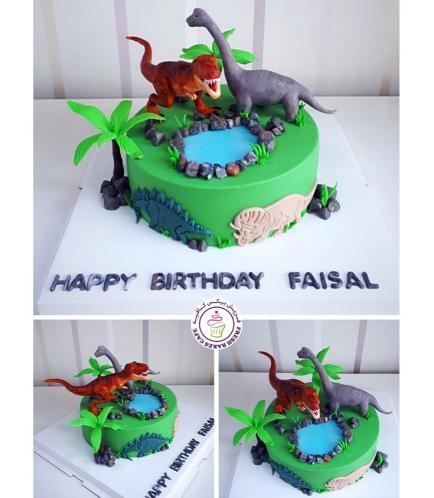 Dinosaur Themed Cake - 3D Cake Toppers 03