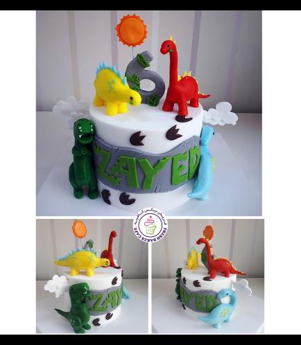 Dinosaur Themed Cake - 3D Cake Toppers 02