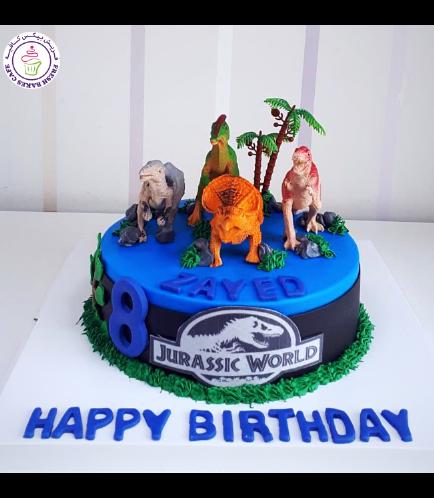Dinosaur Themed Cake - Dinosaur Toys - 1 Tier