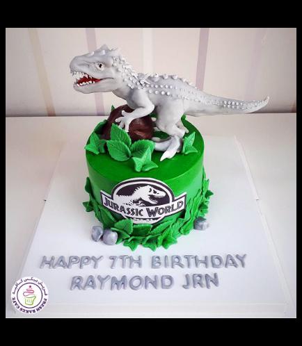 Dinosaur Themed Cake - 3D Cake Topper - 1 Tier 04a