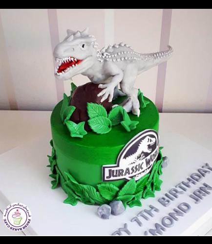 Dinosaur Themed Cake - 3D Cake Topper - 1 Tier 03b