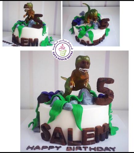 Dinosaur Themed Cake - 3D Cake Topper - 1 Tier 04