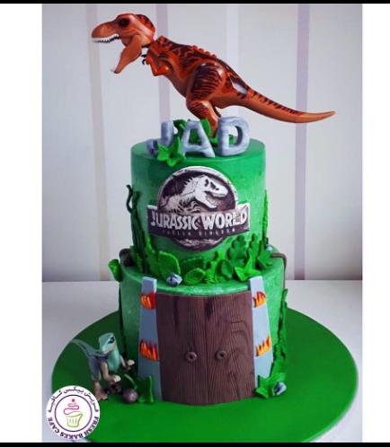 Dinosaur Themed Cake - Dinosaur Toys - 2 Tier