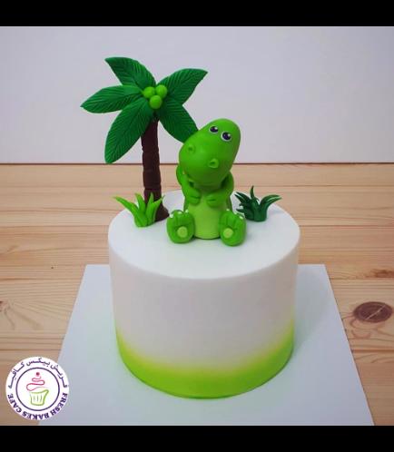 Dinosaur Themed Cake - 3D Cake Topper - 1 Tier 08