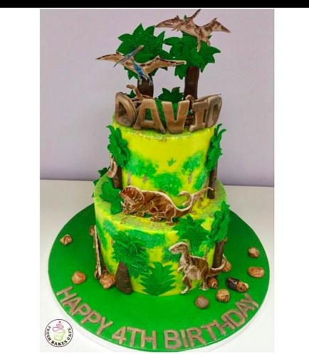 Dinosaur Themed Cake - 2D Dinosaur Cake Toppers 03