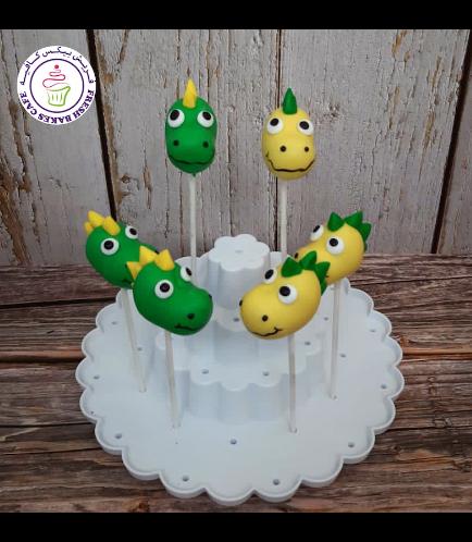 Dinosaur Themed Cake Pops - Dinosaur Head 03
