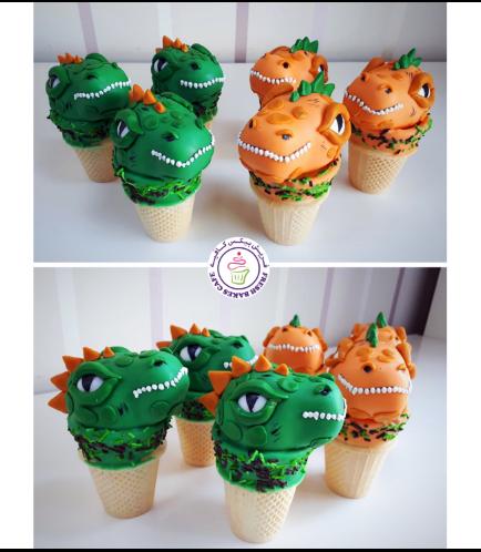 Dinosaur Themed Cone Cake Pops