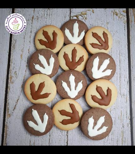 Dinosaur Themed Cookies - Paw Print