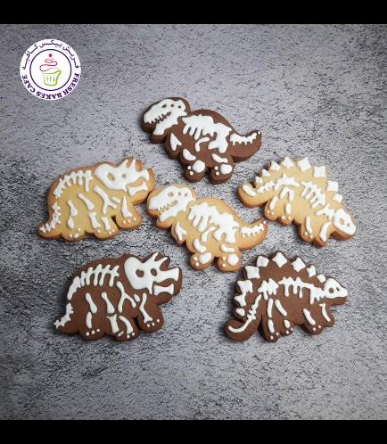 Dinosaur Themed Cookies - Skeletons