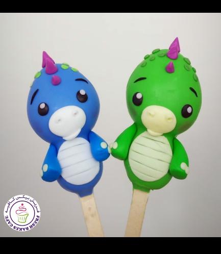 Dinosaur Themed Popsicakes 02