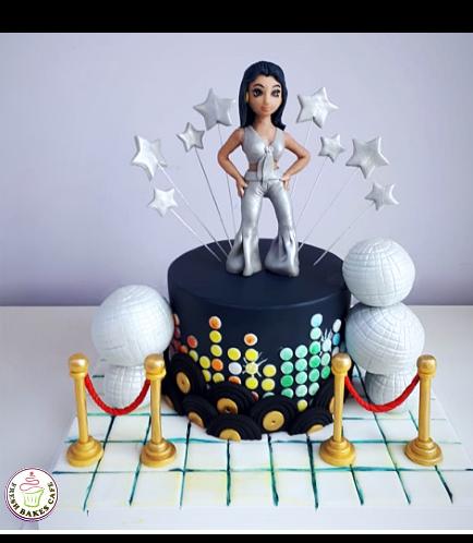 Disco Themed Cake 01a
