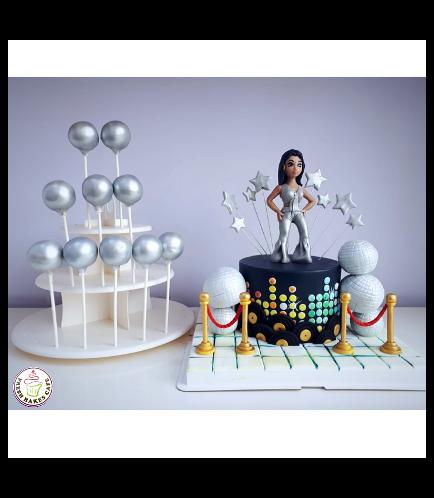 Disco Themed Cake 01b
