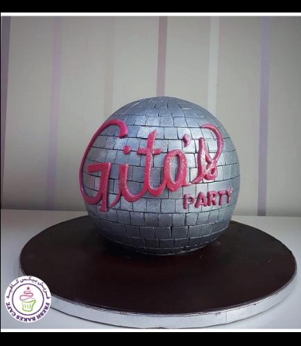 Disco Themed Cake 04a