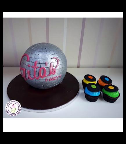 Disco Themed Cake 04b