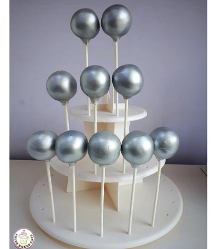 Disco Themed Cake Pops - Disco Balls