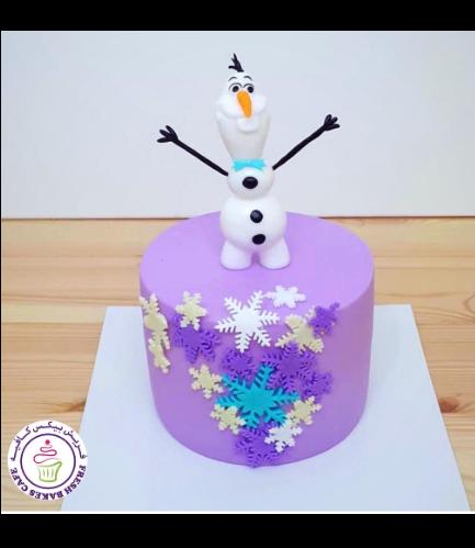 Cake - Olaf - 3D Cake Topper 02