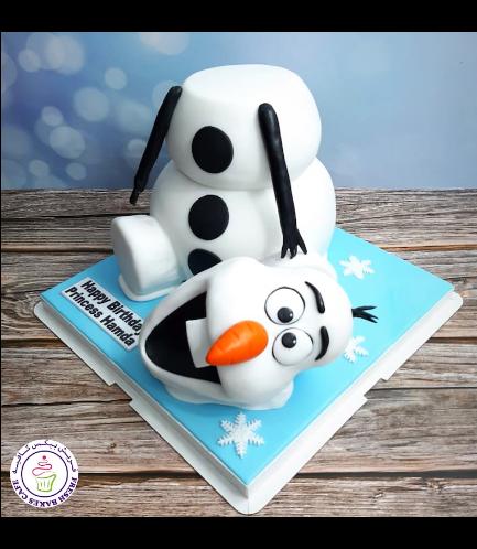 Cake - Olaf - 3D Cake