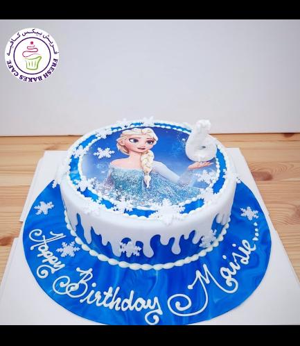 Cake - Picture - Printed Picture - Fondant Cake - Elsa 02