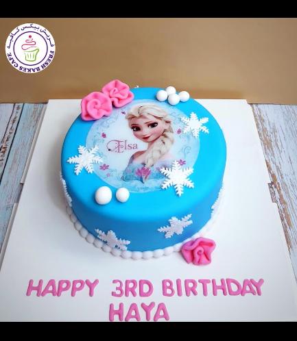 Cake - Picture - Printed Picture - Fondant Cake - Elsa 03