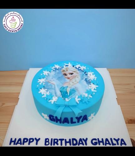 Cake - Picture - Printed Picture - Fondant Cake - Elsa 04