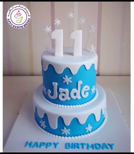 Cake - Snowflakes - 2 Tier 01